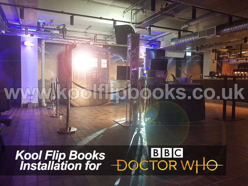Flip Book Photo Booth for BBC Dr Who in London