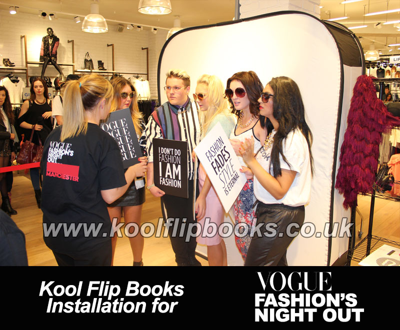 Flip Books photobooth hire for Vogue