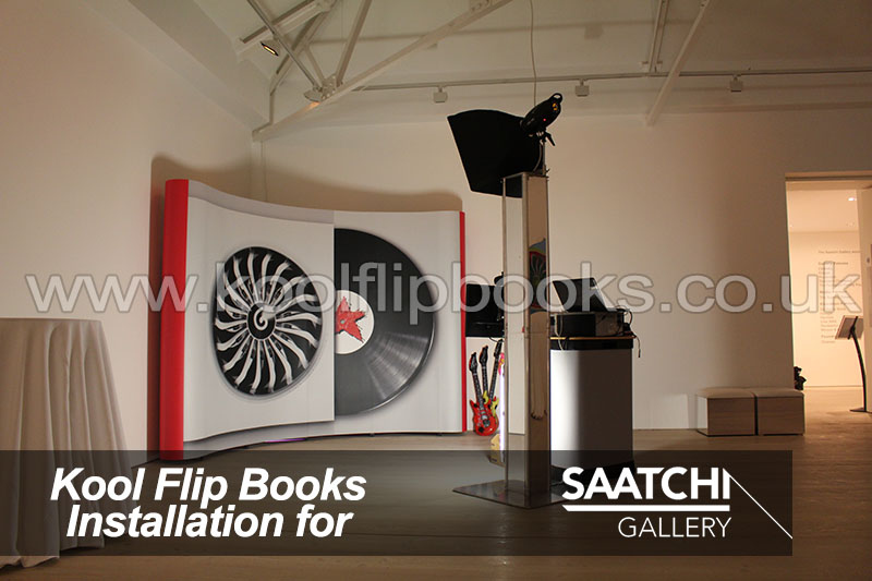 kool flip books photobooth hire at saatchi gallery in london