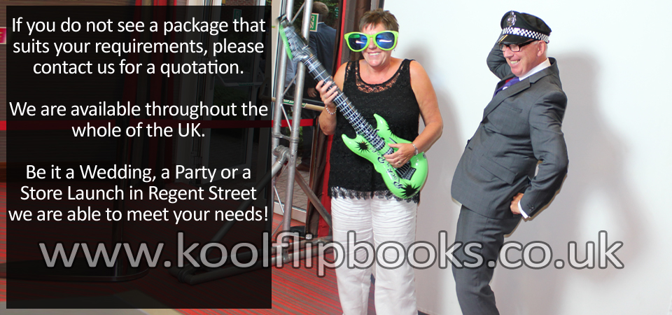 flip books hire with mobile flip books studio rental